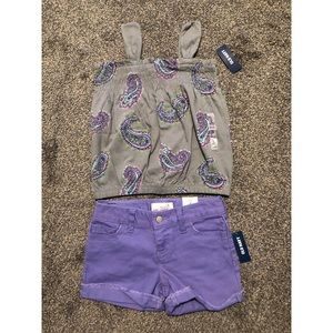 Old Navy Matching Tank Top and Denim Shorts S 6-7